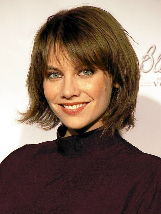 Lauren Cohan With Short Hair Collar Length Hairstyle