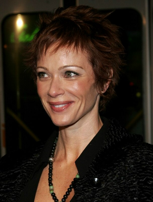 Lauren Holly Wash And Wear Pixie Haircut For Busy Women