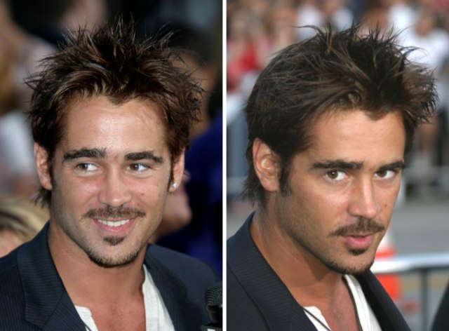 colin farrell with an ivy-league or collegiate haircut