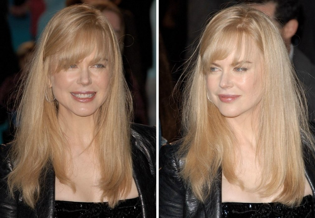 Nicole Kidman With A Straight Long Blunt Cut And A Long