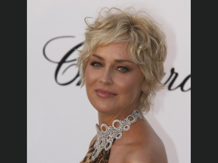 Sharon Stone Taylor Momsen Ruffled Shag Haircut And A