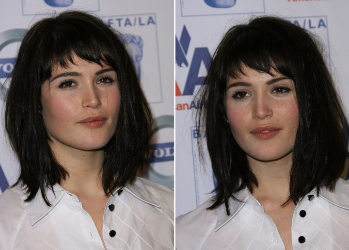 Gemma Arterton Sporting Medium Hair In Layers And Alicia