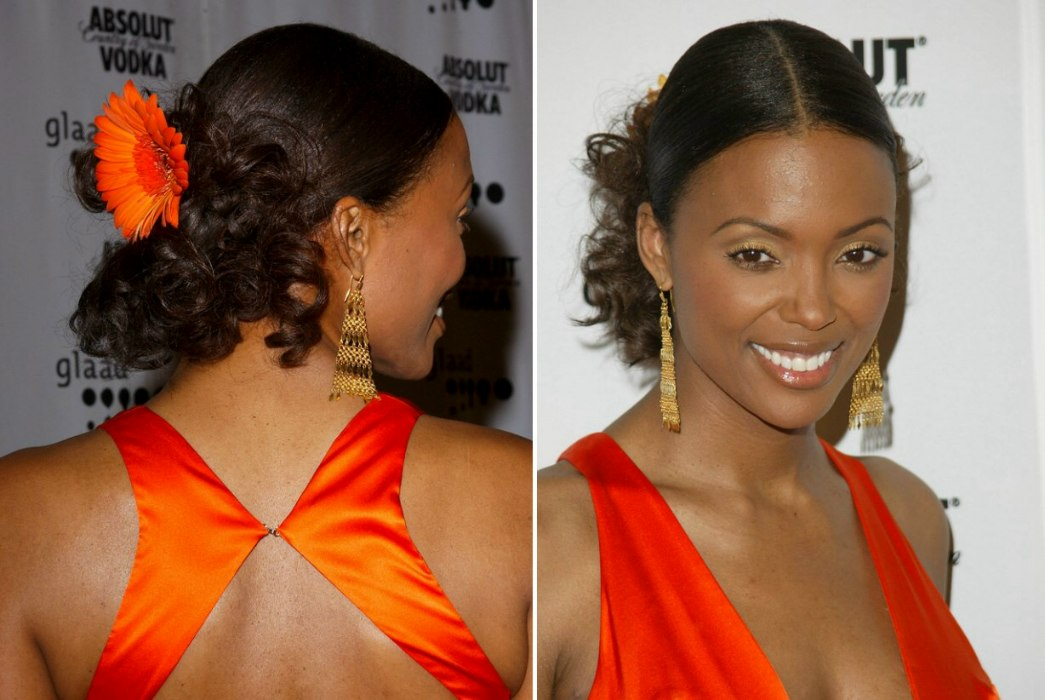 Aisha Tyler Sporting A Ballerina Look Up Style With A