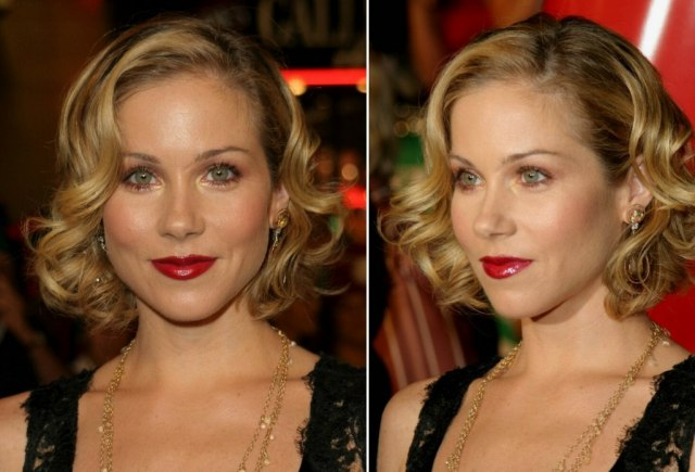 christina applegate   short hairstyle with barrel curls for