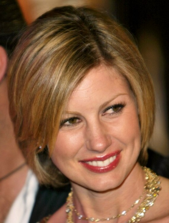 Faith Hill Clean And Conservative Bob Hairstyle With