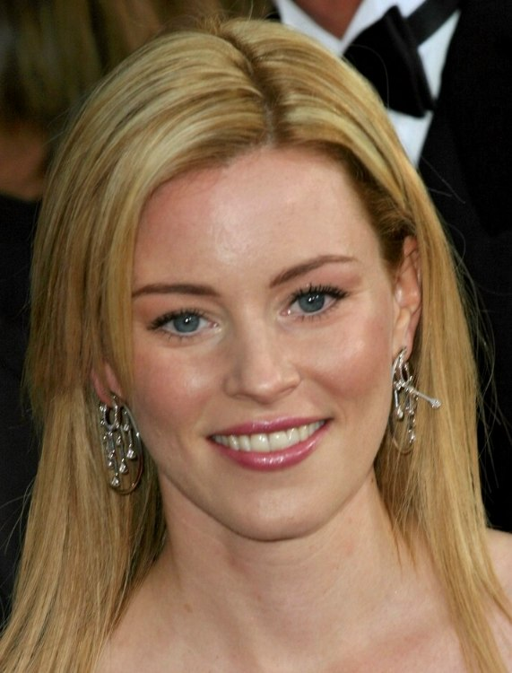 Elizabeth Banks Long Straight Hairstyle With Layers And