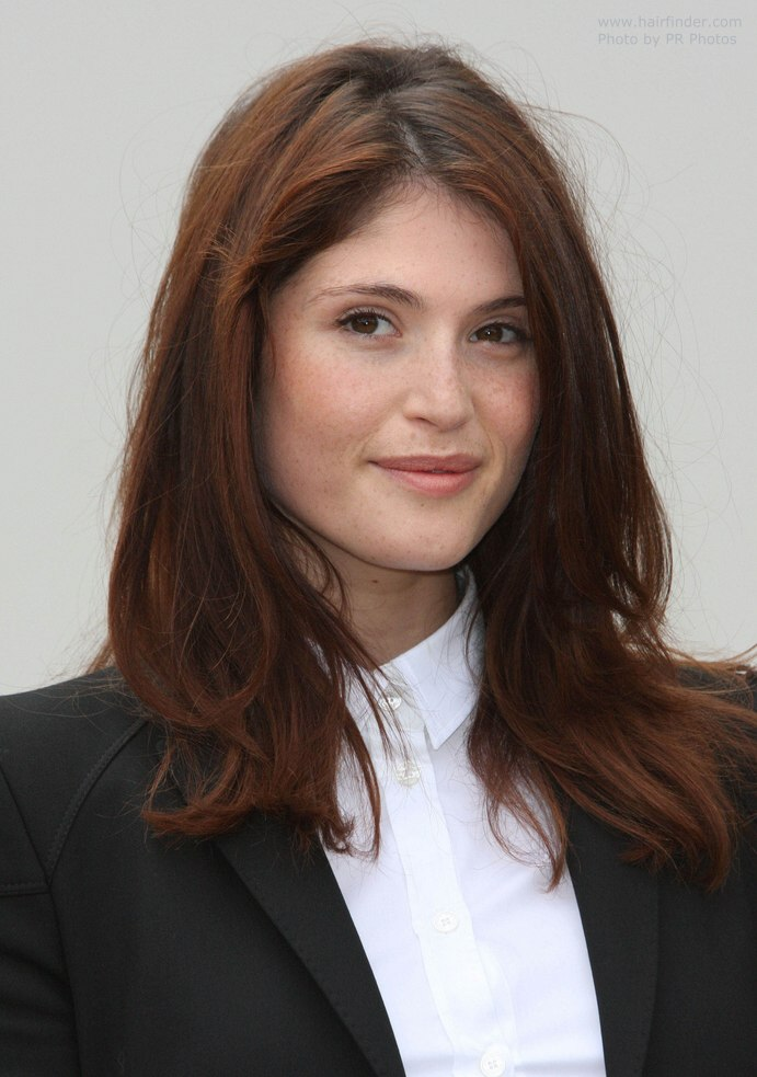 Gemma Arterton Wearing A Button Front Blouse With Buttoned