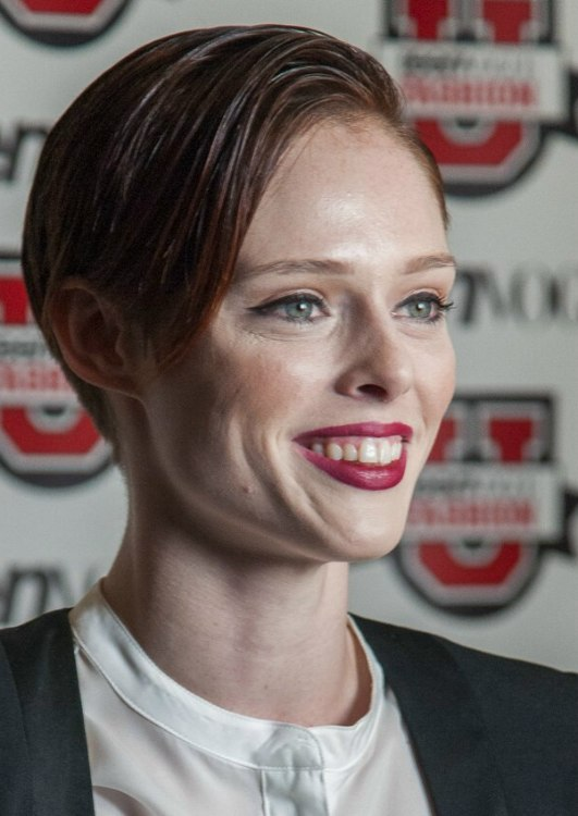 Coco Rocha Sophisticated And Very Short Hairstyle With