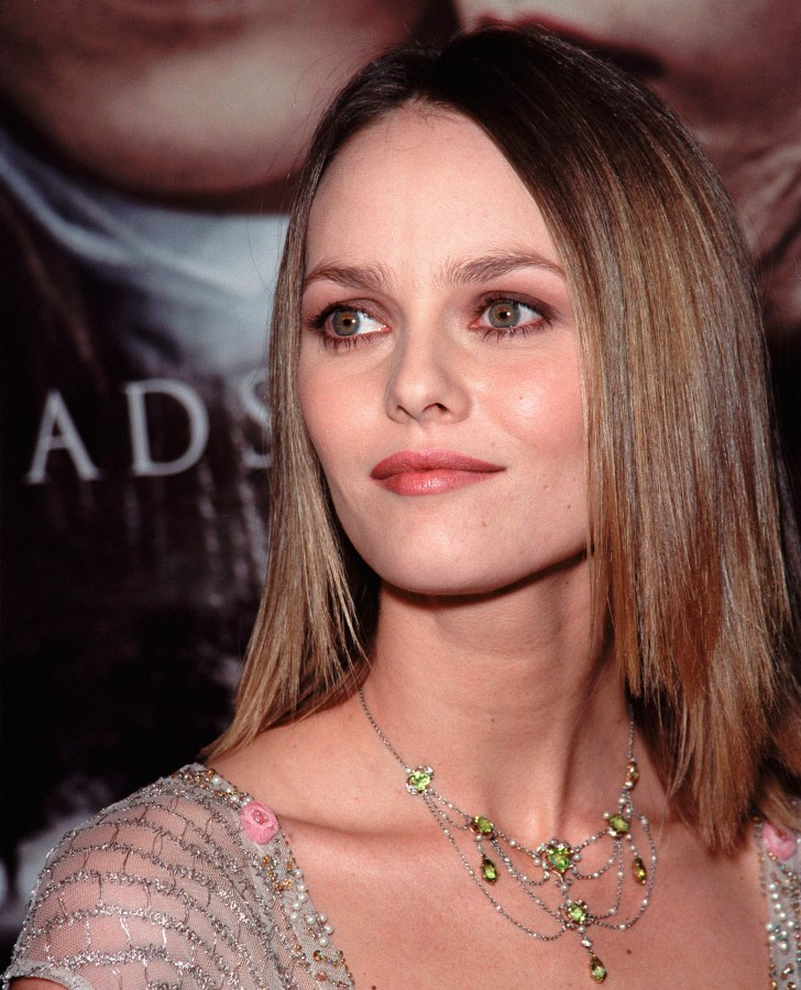 Vanessa Paradis Sleek Shoulder Length Hairstyle With