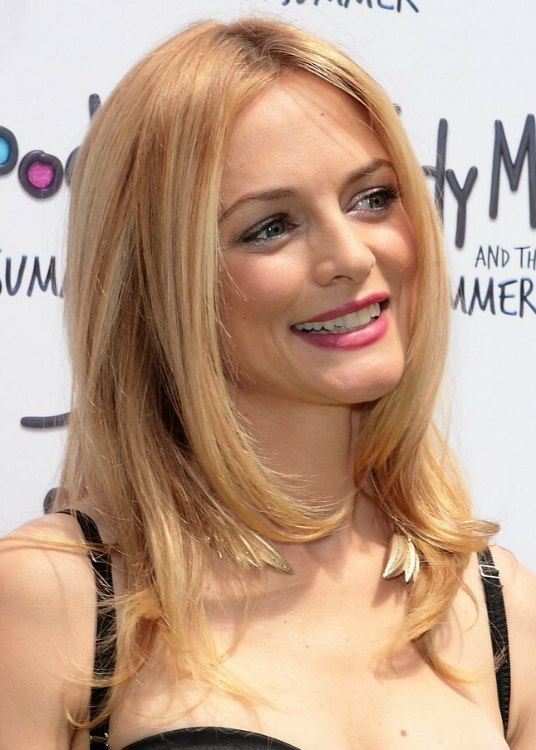 Heather Graham Long Hairstyle For Fine Blonde Hair With