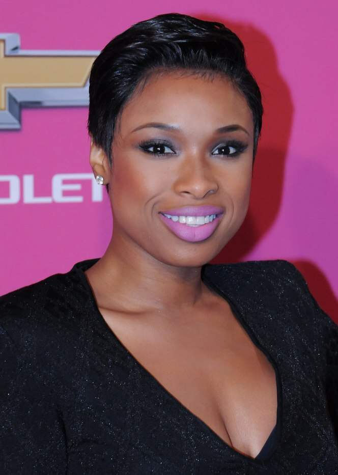 Jennifer Hudson After Chopping Her Long Hair Off And