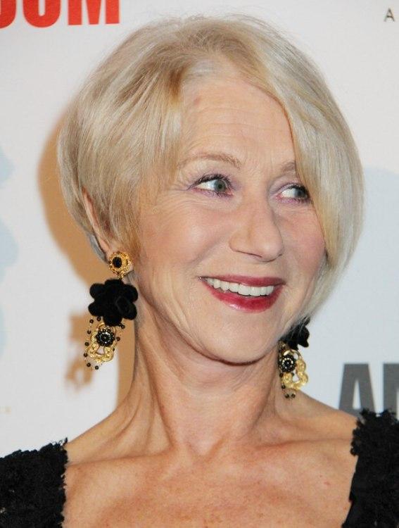 Helen Mirren Trendy And Rejuvenating Haircut For 60 Plus