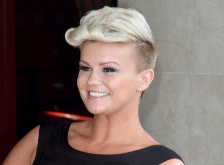 Kerry Katona Dramatic Short Haircut With Shaved Sides