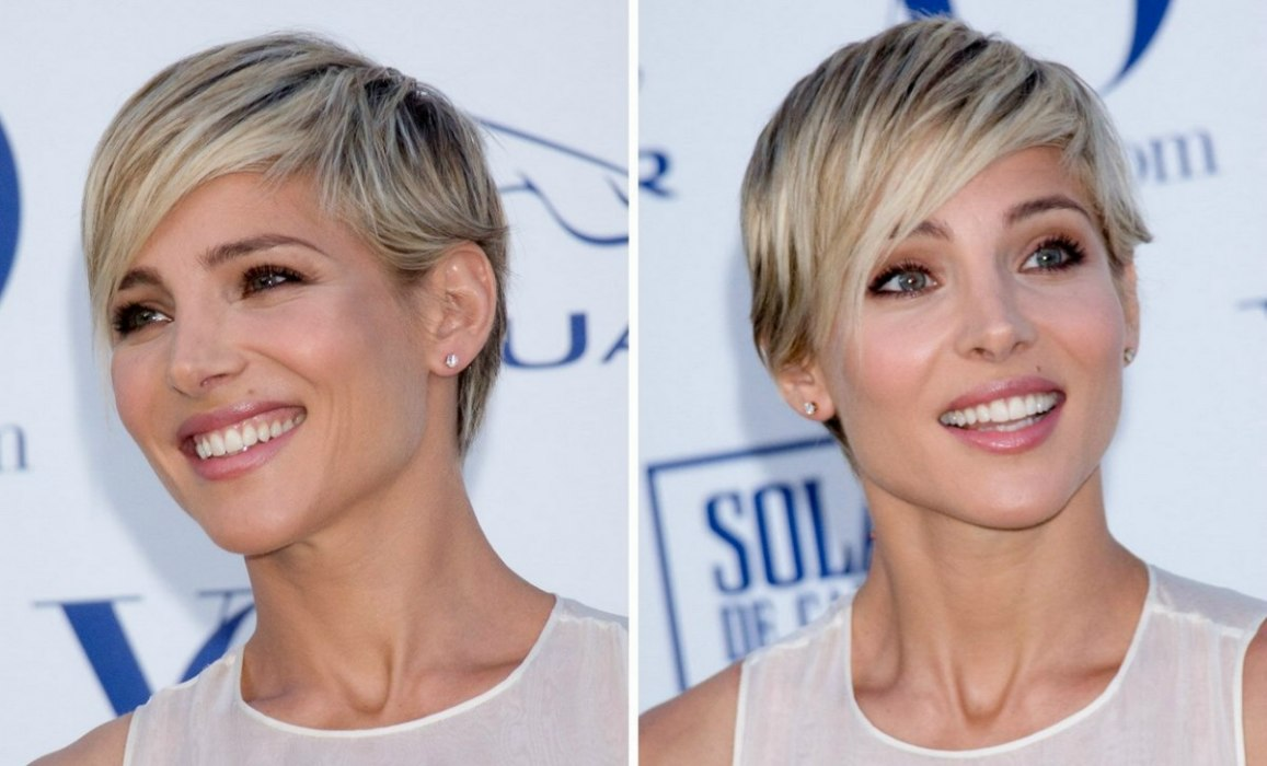 Elsa Pataky Short Blonde Pixie Haircut With A Tapered