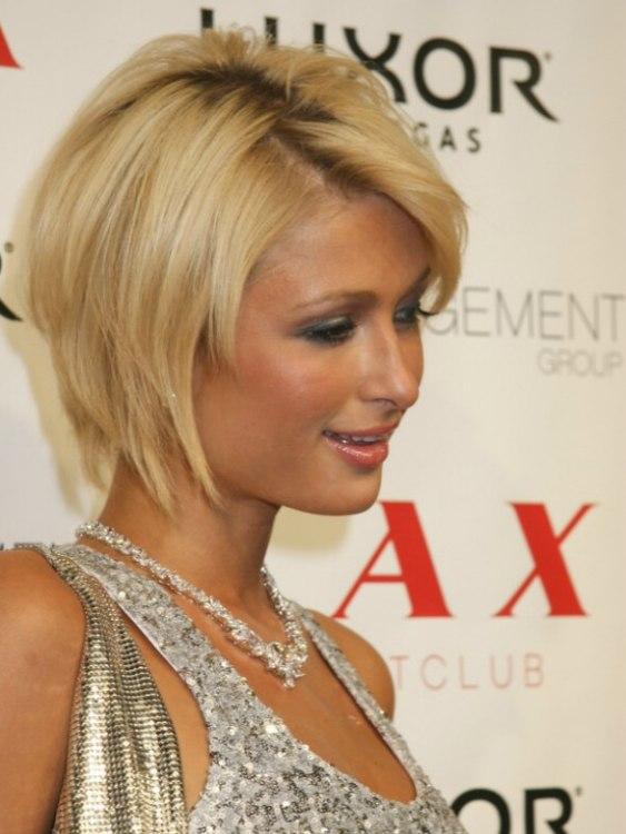 Paris Hiltons Highly Textured Oval Bob Haircut
