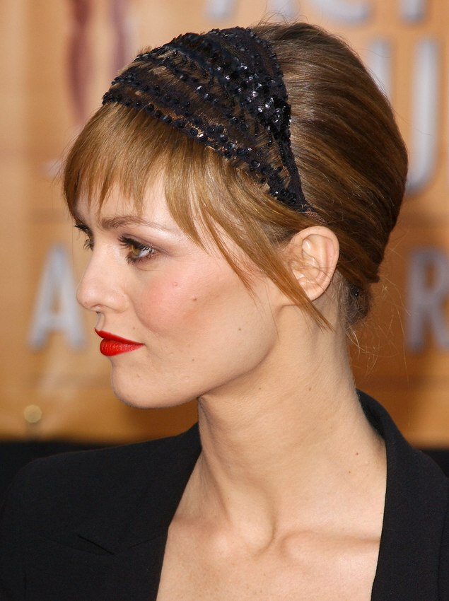 Vanessa Paradis Wearing Her Hair In An Up Style With A