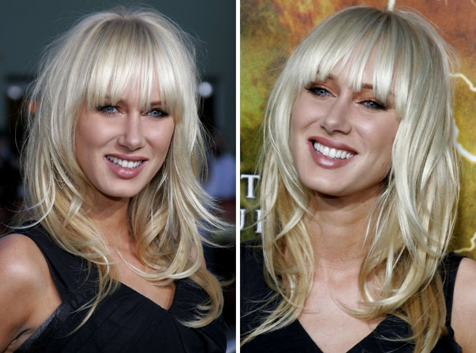 Kristy Frank Kimberly Stewart Blondes Crimped Wavey Hair