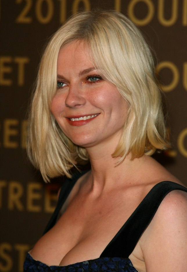 Kirsten Dunst Wearing Her Hair In A Bob With Waves