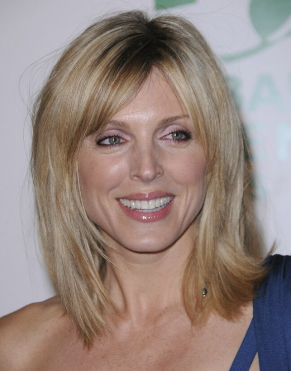 Marla Maples Wearing Her Hair Angled And In A Shoulder