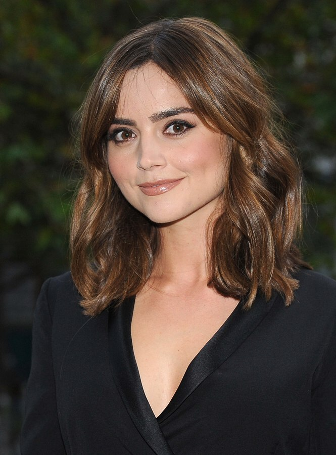 Jenna Coleman Easy Shoulder Length Hair With Loose Waves
