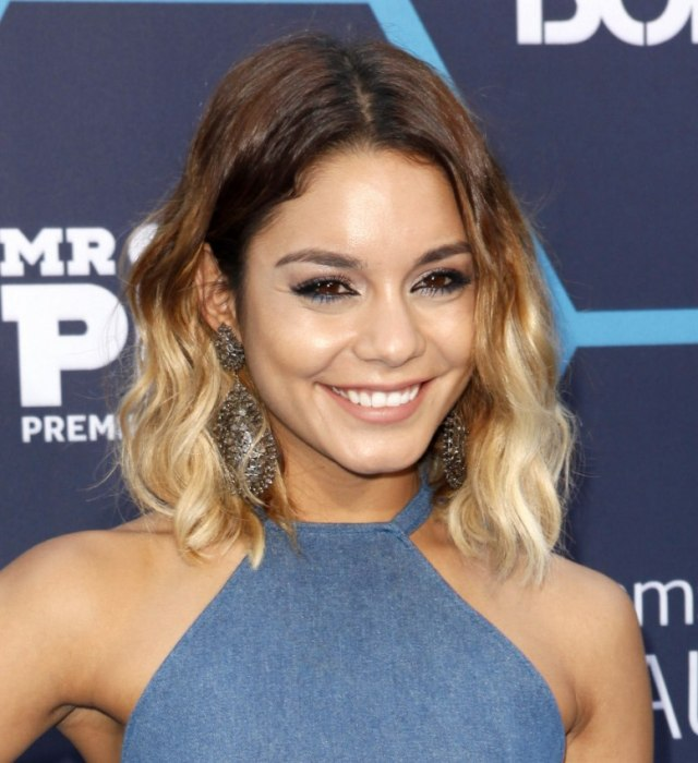 vanessa hudgens | brown to blonde ombré look created with a