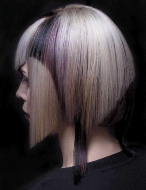 Futuristic Hairstyle With A Shortened Back