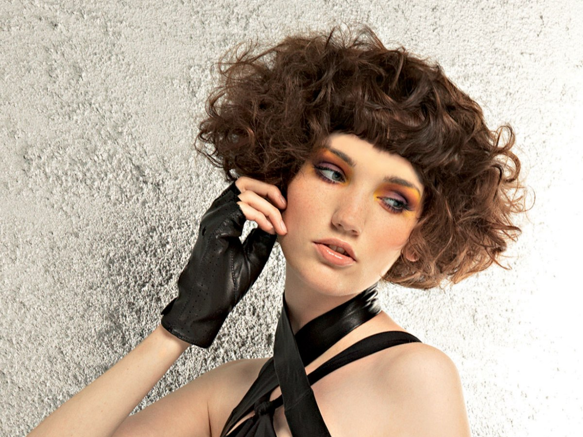 Short Hair With Bouncy Waves And Full Volume Styling