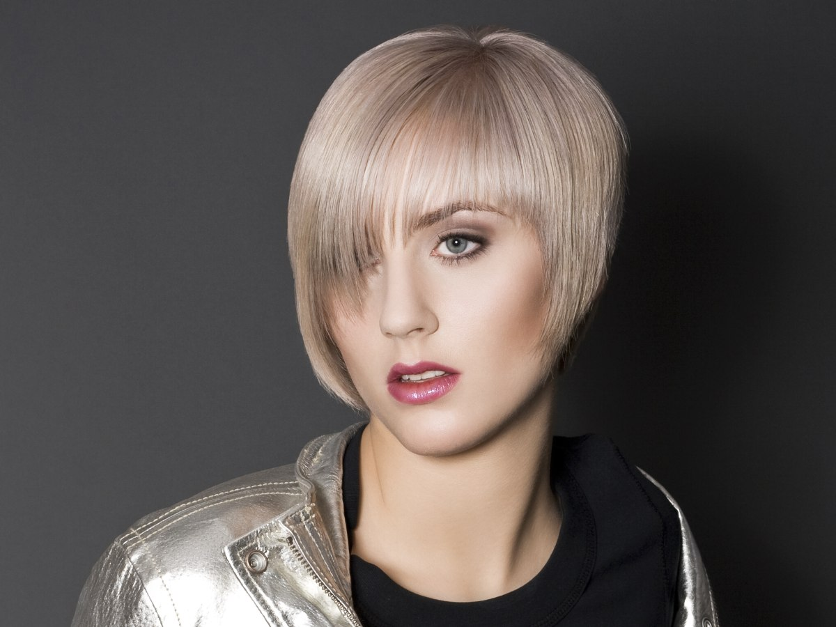 Short Hairstyle With A Fringe And Side And Nape Sections