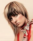 Picture of asymmetrical medium length hairstyle