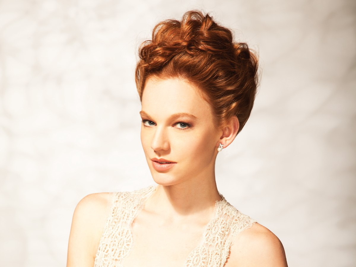 Soft And Loose Updo That Is Not Hard To Create Red Hair