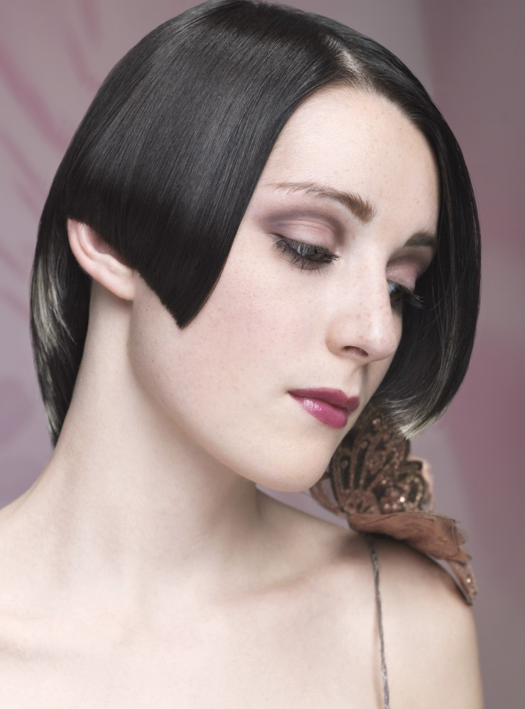 Short Gothic Type Hair With Black And Silver Shades