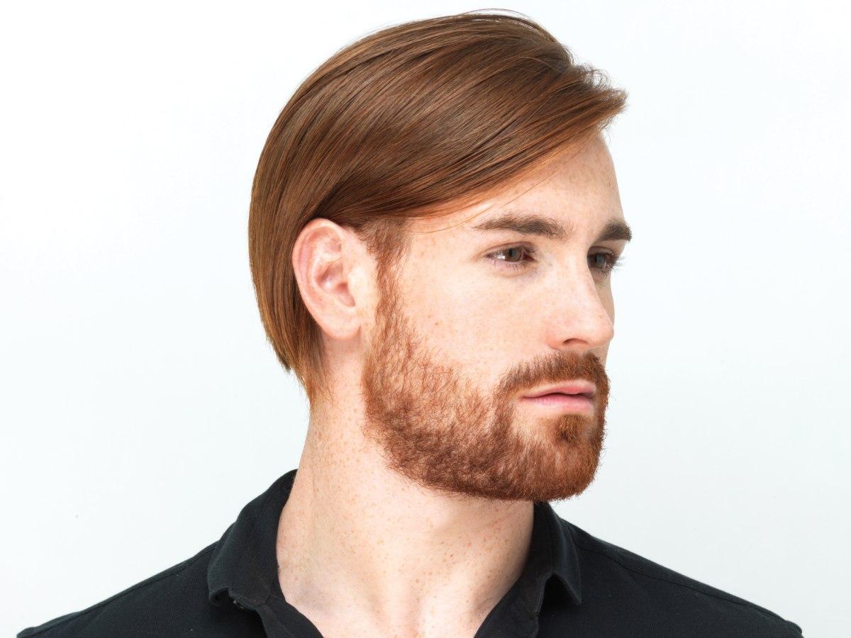 Sleek Mens Haircut With A Modern Attitude And A Beard