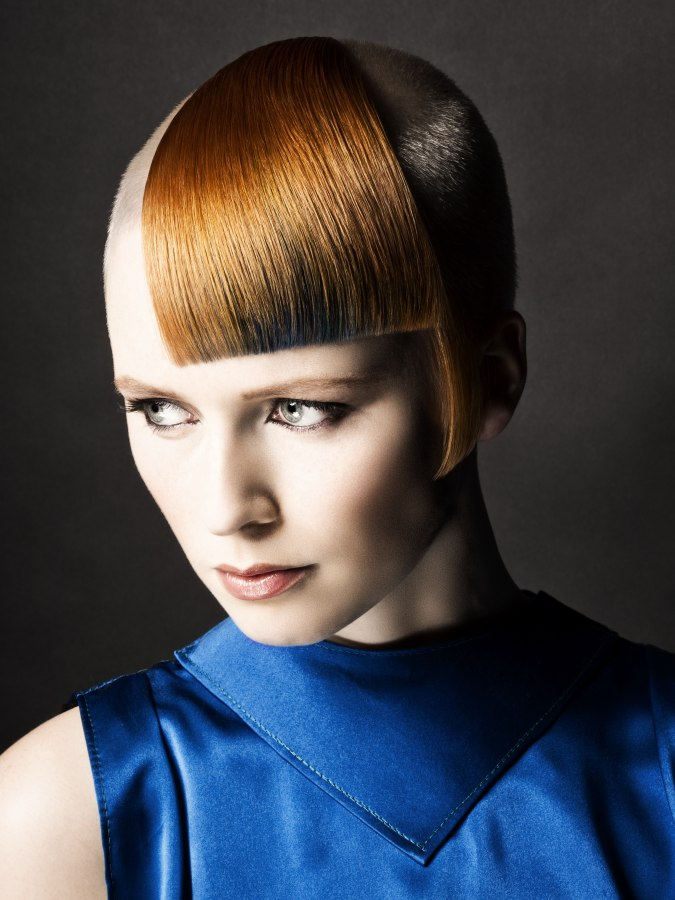 Radical Short Haircut With A Combination Of Long And