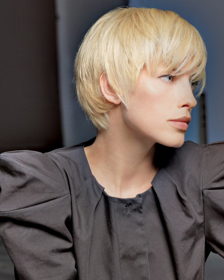 Contemporary Short Hair With Layers That Follow The Shape