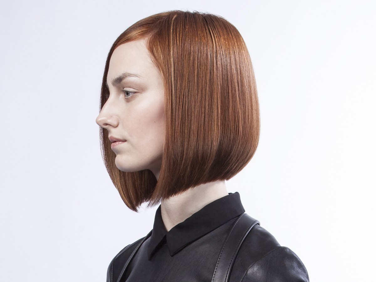 Slightly Angled Bob With Clean Cut Precision