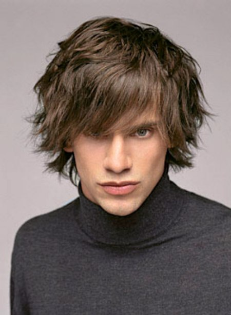 Flippy Shag Haircut For Men With Hair That Lies Around The