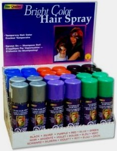 temporary hair color for fun hair chalk and temporary hair color in a spray that can be washed out
