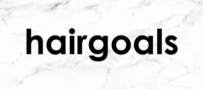 get social with hair goals - tumblr, facebook, twitter, instagram, pinterest,