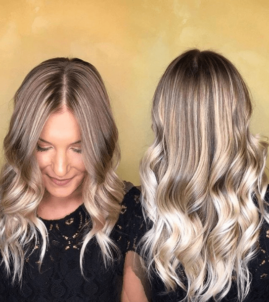 Ash blonde babylight balayage