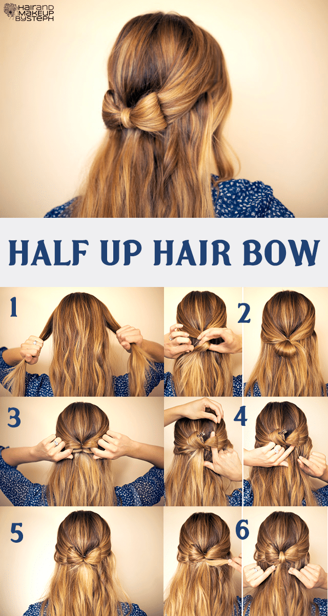 Half Up Hair Bow Hairstyle