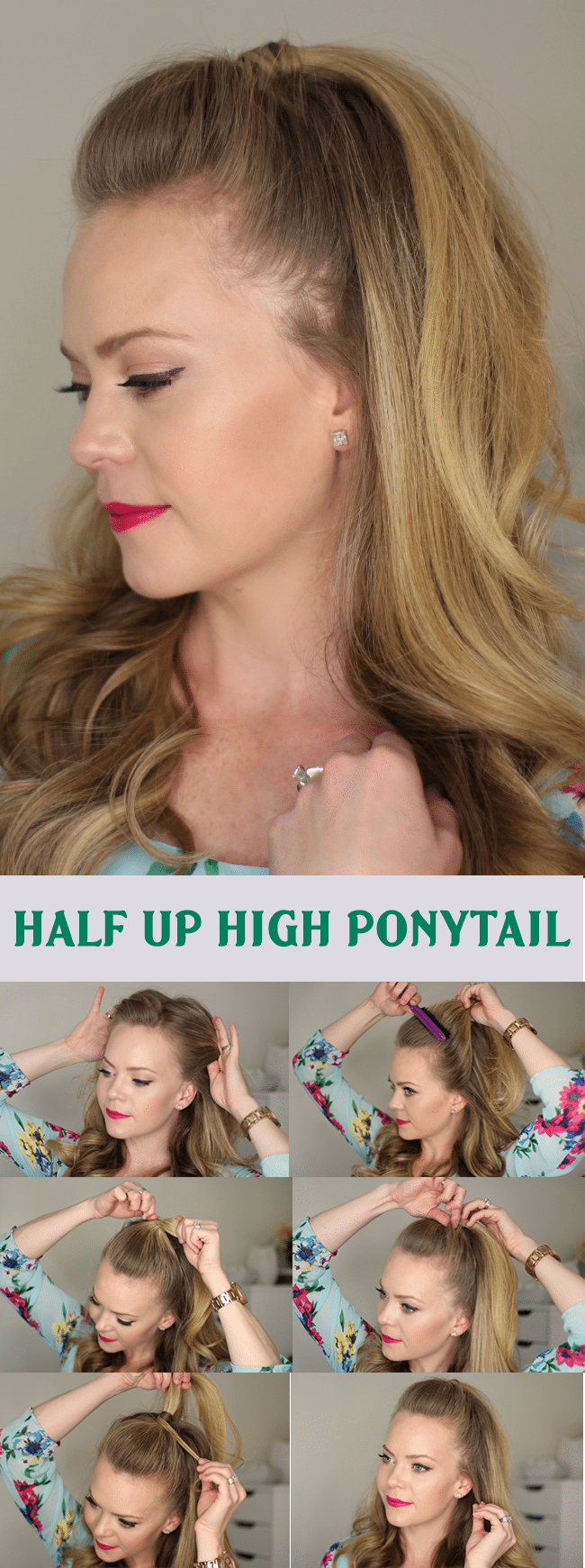 Half Up High Ponytail Hairstyle