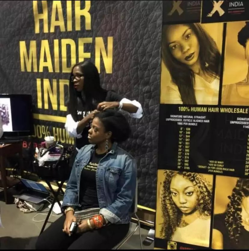 Bronner Bros. Trade Show stylist demonstrating