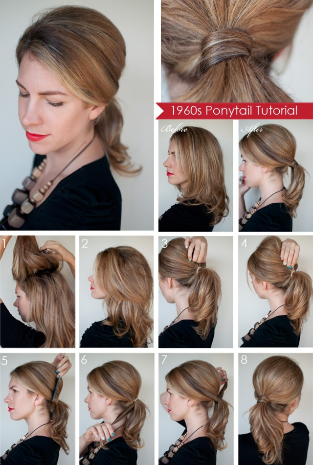 hairstyle how to: create a 1960s style ponytail - hair romance