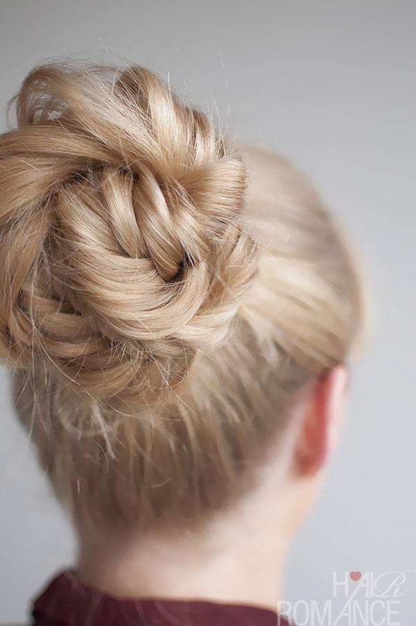 Hairstyle Tutorial Fishtail Braided Bun Hair Romance