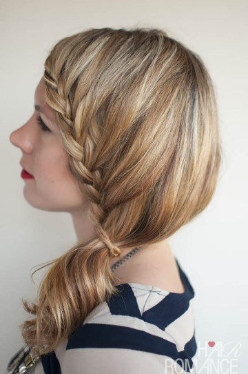 Hair Romance - Lace Braid Side Ponytail Hairstyle