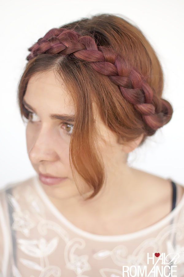 Modern Milkmaid Braids Hairstyle Tutorial Hair Romance