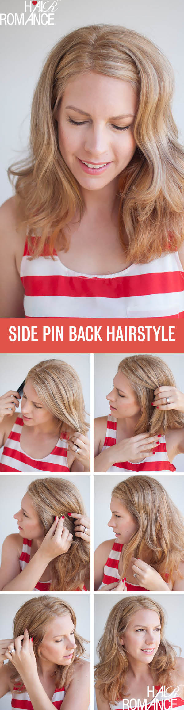 two easy ways to pin back your hair - hair romance