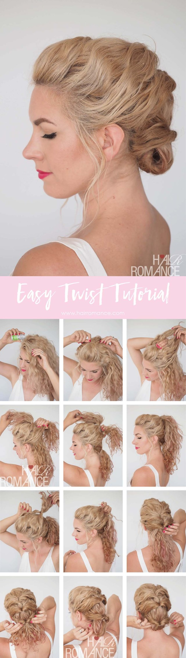 quick and easy twist hairstyle tutorial – get great hair