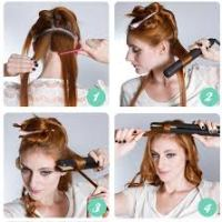 curl your hair using a hair straightener - steps