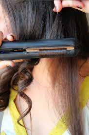 hair straightener curling